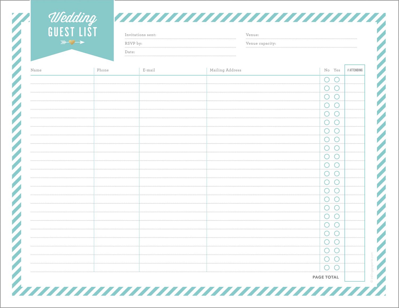 Free Wedding Planning Printables & Checklists - Free Printable Wedding Checklist