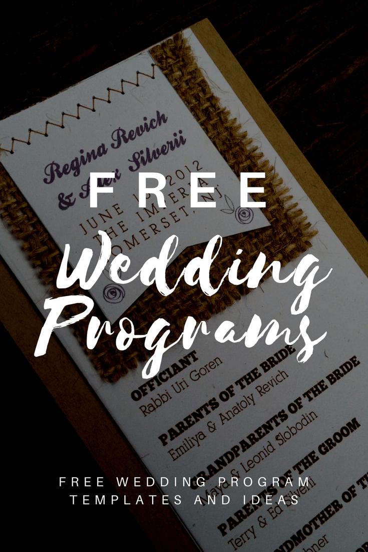 Free Wedding Program Templates | Wedding Program Ideas - Free Printable Wedding Program Templates