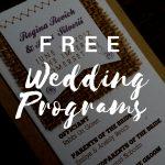 Free Wedding Program Templates | Wedding Program Ideas   Free Printable Wedding Programs