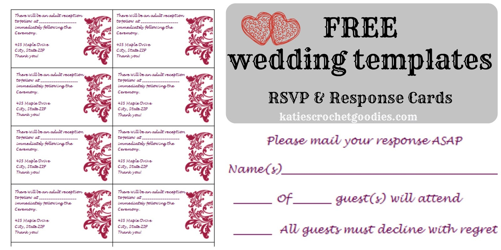 Free Wedding Templates Awesome Free Rsvp Template - Zlatadoor - Free Printable Rsvp Cards