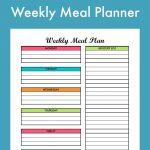 Free Weekly Meal Planning Printable With Grocery List | Free   Create A Menu Free Printable