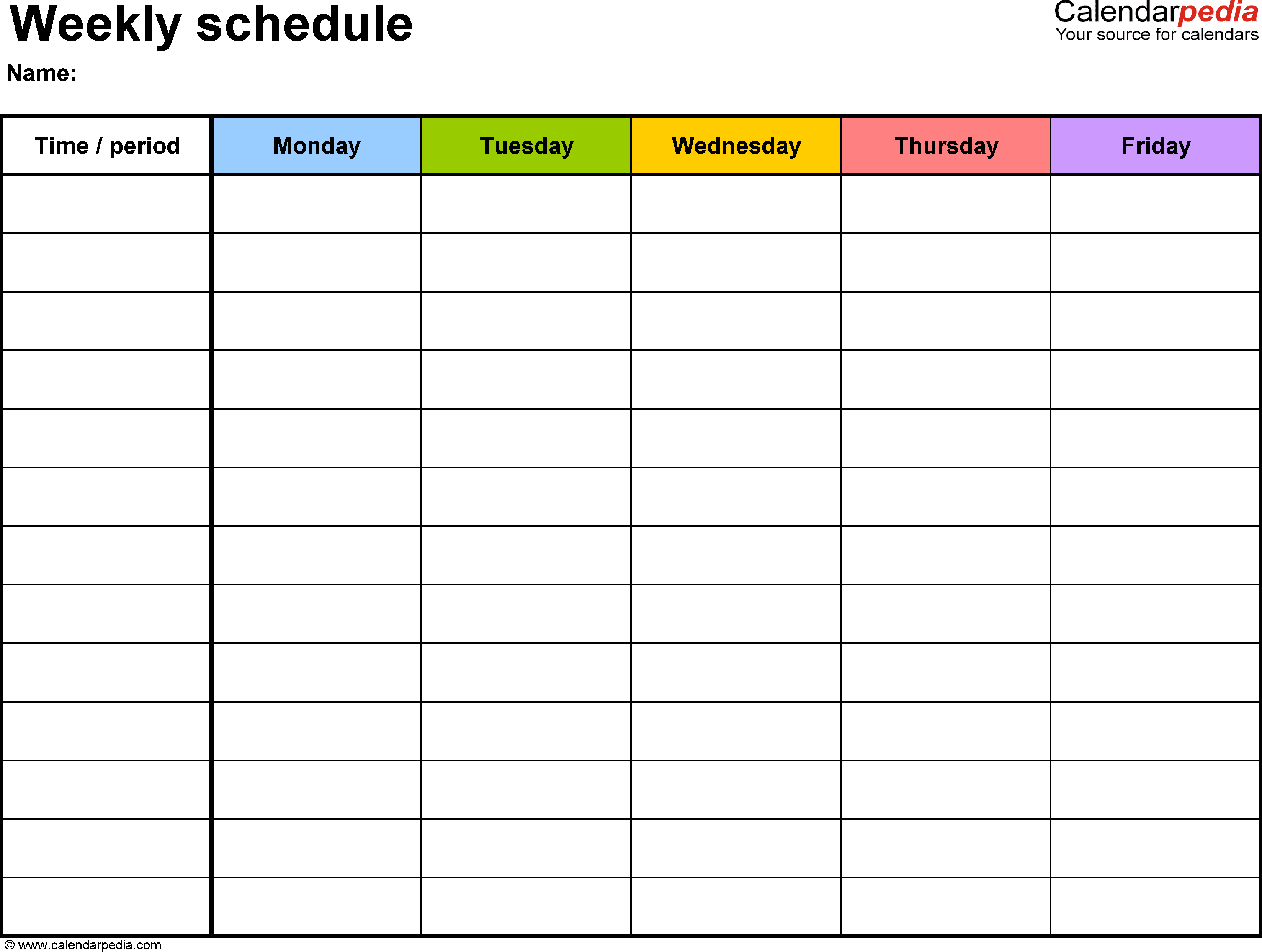 Free Weekly Schedule Templates For Word - 18 Templates - Free Printable Weekly Work Schedule