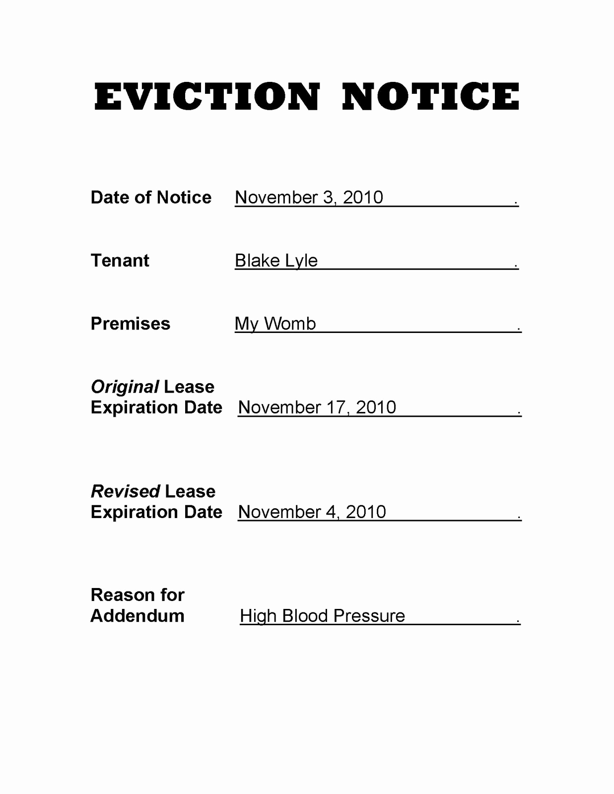 Free Wisconsin Notices To Quit For Nonpayment Of Rent | Pdf Word - Free Printable Blank Eviction Notice