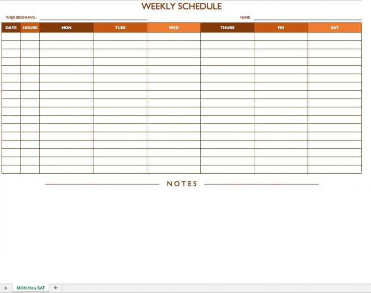 Free Printable Blank Work Schedules