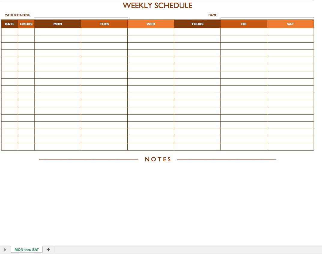 Free Work Schedule Templates For Word And Excel - Free Printable Blank Work Schedules