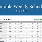 Free Work Schedule Templates For Word And Excel Weekly Maker   Free Printable Work Schedule Maker