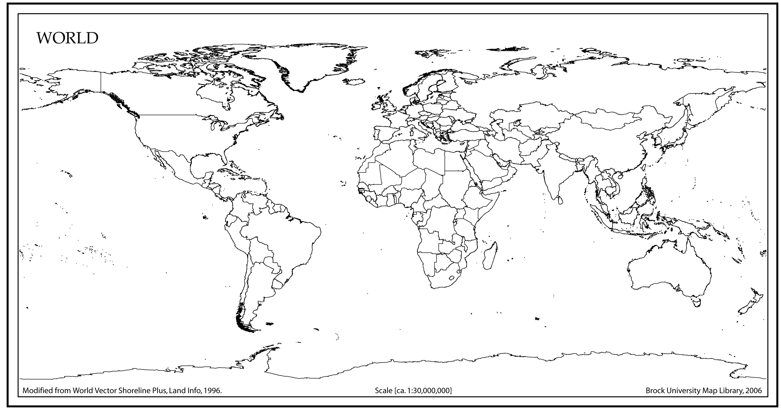 Free World Map With Country Names Pdf Blank World Map With Country - Free Printable Blank World Map Download