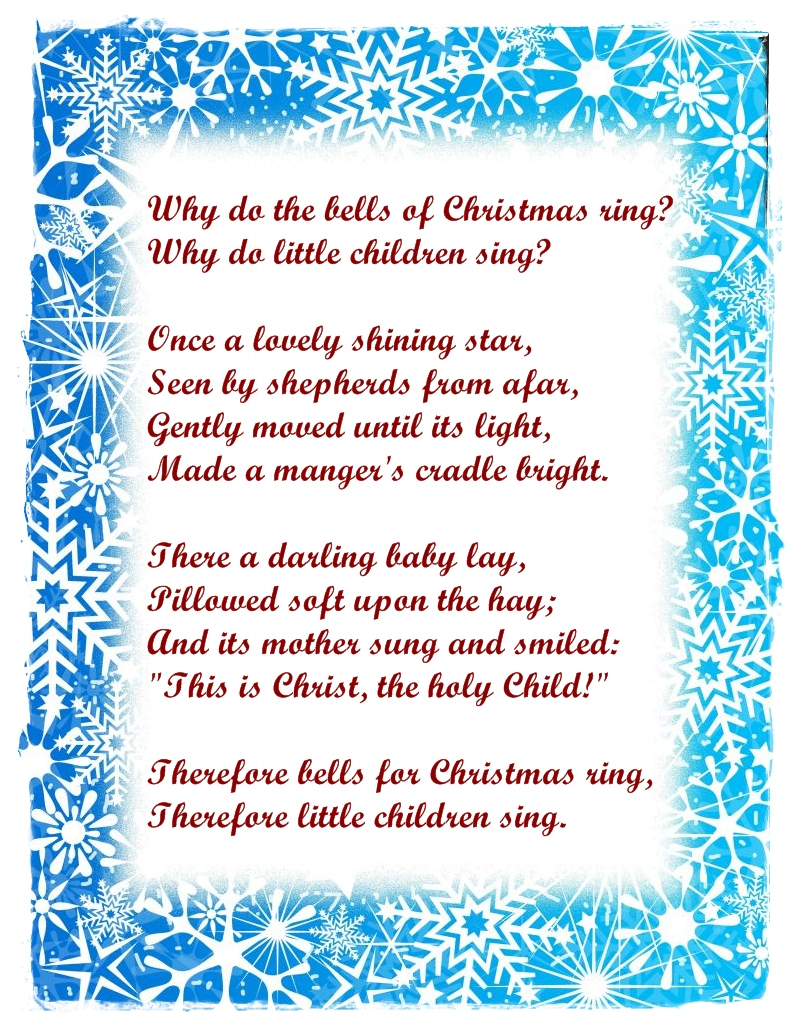 Free Xmas Love Poems | Free Love Quotes - Free Printable Christian Christmas Poems