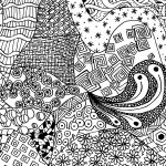 Free Zen Doodle Design Adult Coloring Page Printable With Zendoodle   Free Printable Doodle Patterns