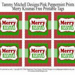 Freebie: Free Printable Christmas Tag: We Wish You A Merry Kissmas   We Wash You A Merry Christmas Free Printable