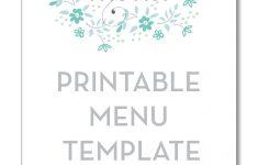 Free Printable Christmas Dinner Menu Template