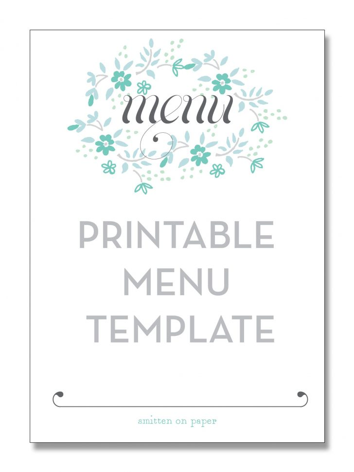 Free Printable Christmas Dinner Menu Template