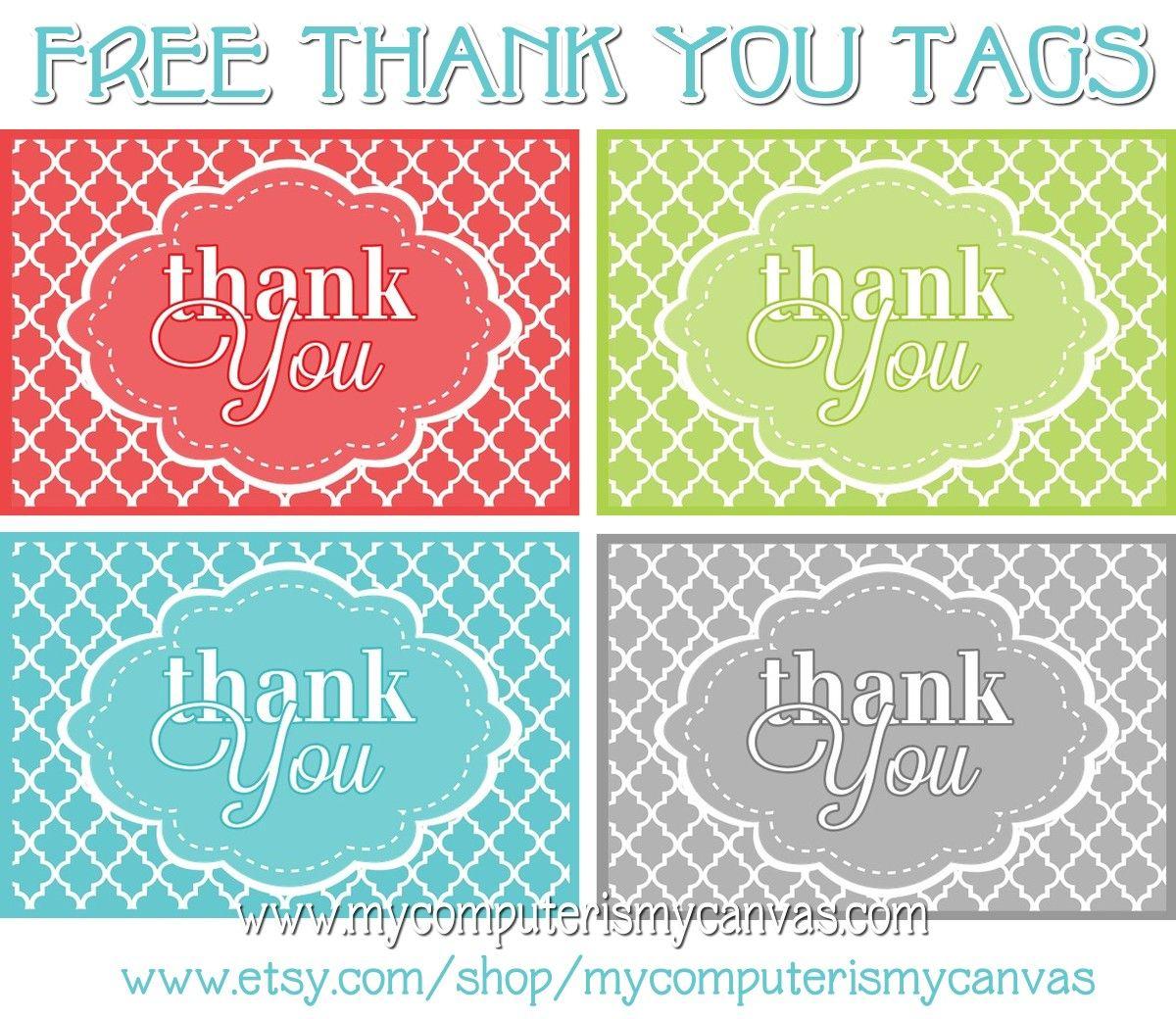 Freebie} Printable Thank You Tags | Printables | Pinterest | Thank - Free Printable Thank You Tags For Birthdays