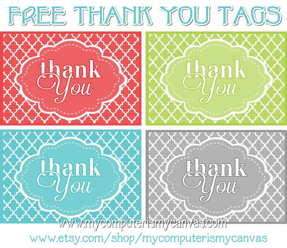 Freebie} Printable Thank You Tags | Printables | Pinterest | Thank - Free Printable Thank You Tags Template