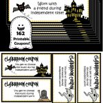 Freebie!! Spooky Style 162 Printable Classroom Coupons! 25 Different   Free Printable Halloween Homework Pass