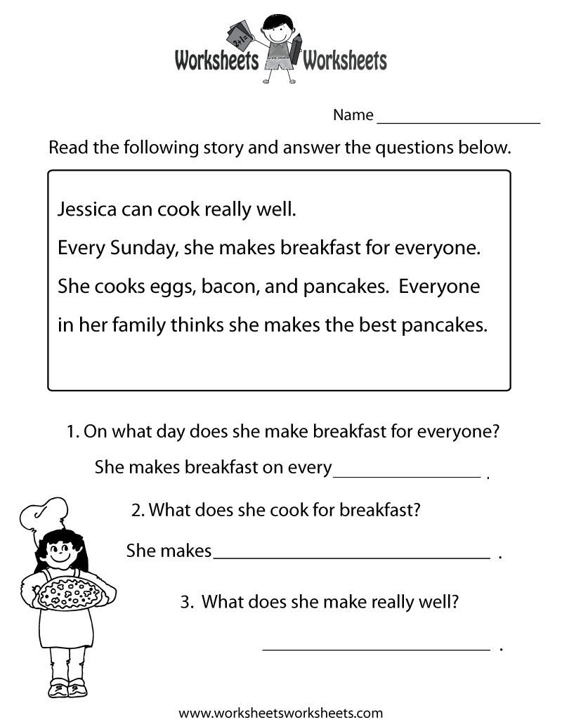 Freeeducation/worksheets For Second Grade |  Comprehension - Free Printable Reading Comprehension Worksheets For Adults