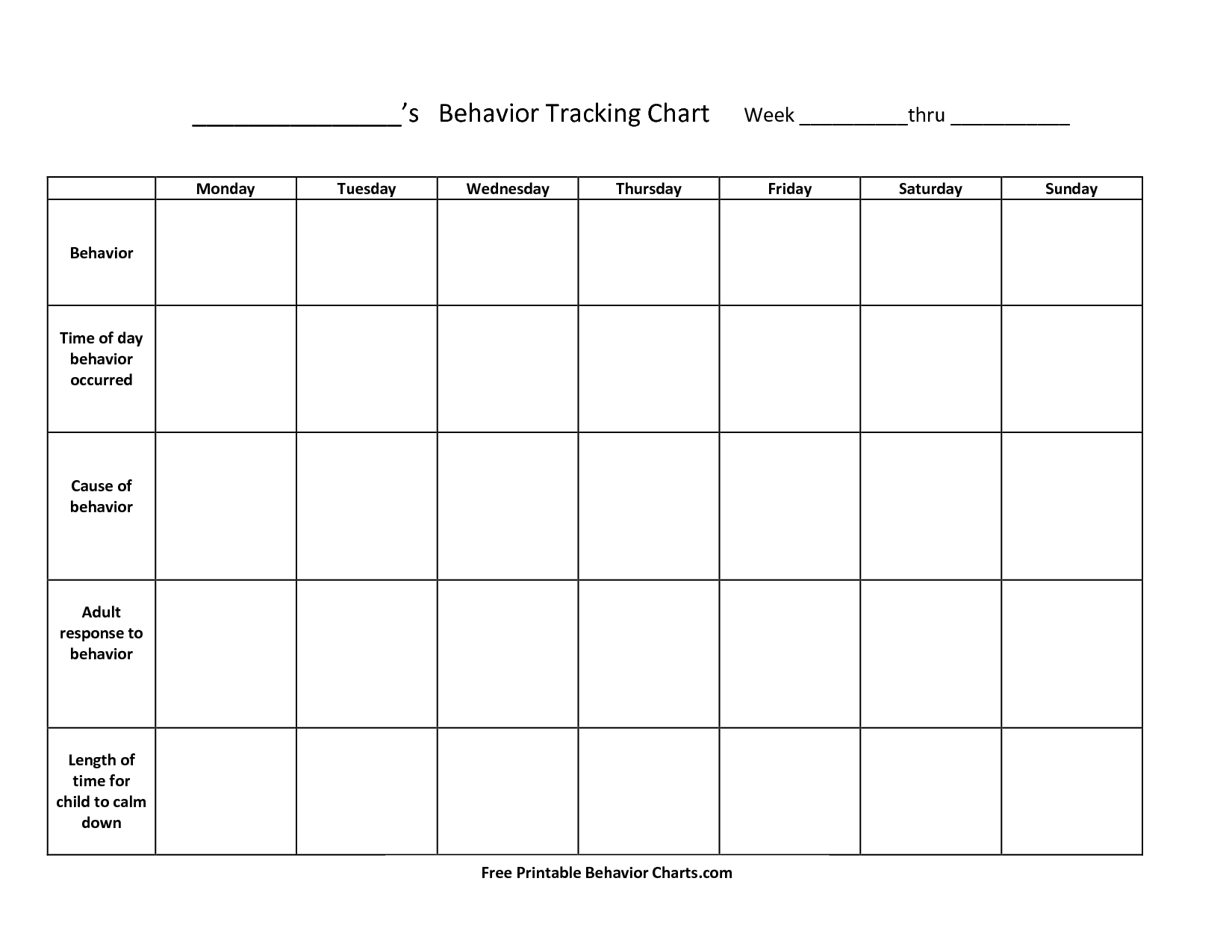 Free+Printable+Behavior+Charts+For+Teachers   Things To Try   Free - Free Printable Charts For Teachers