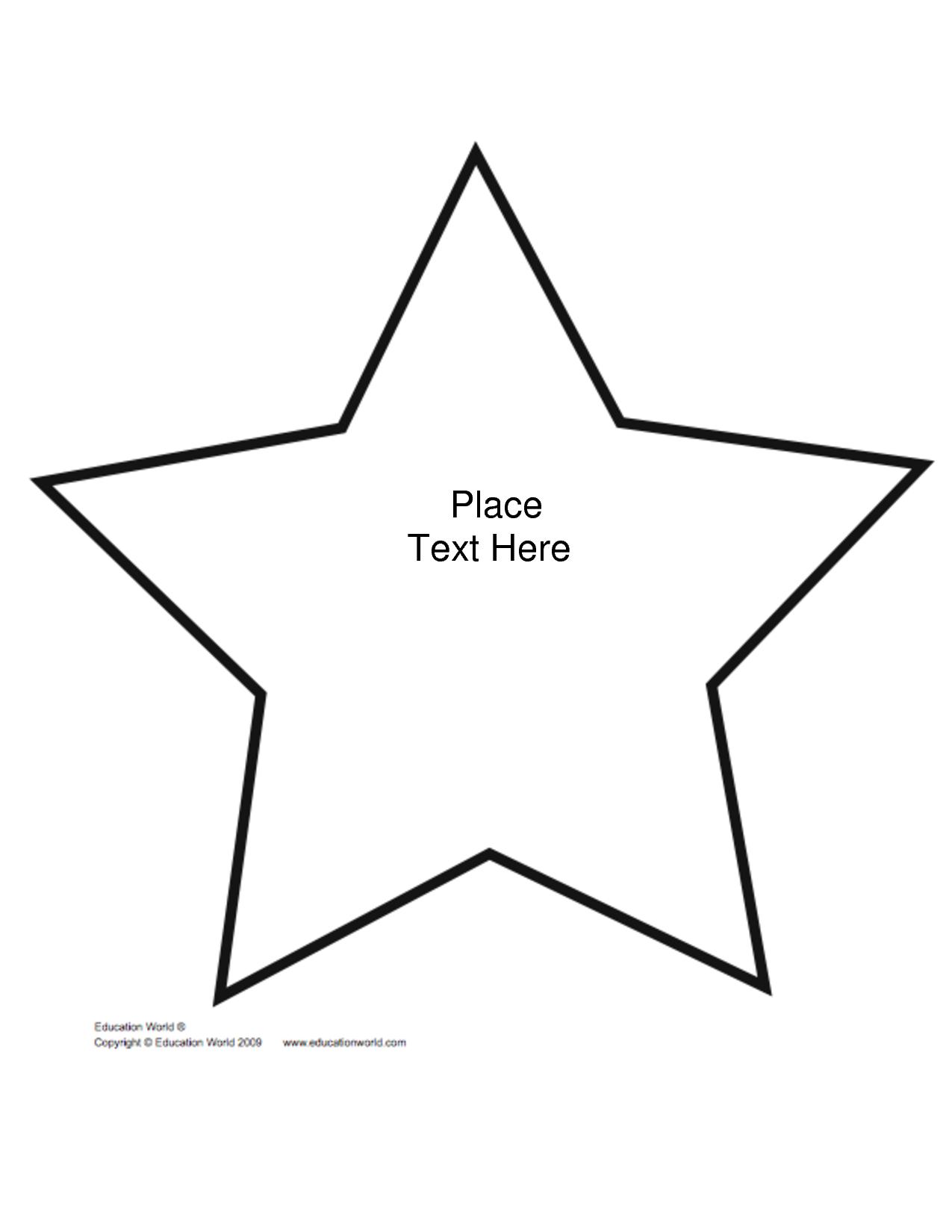 Free+Printable+Star+Shape+Templates   Biblical Preschool Lessons - Free Printable Shapes Templates