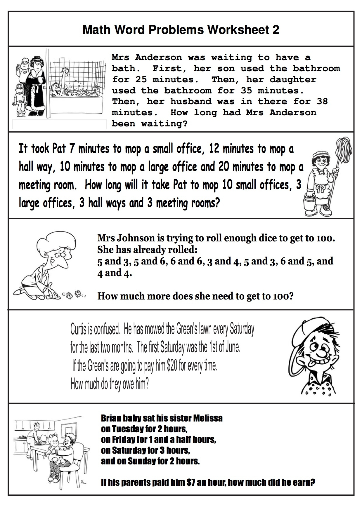 Fresh Math Word Problems For Kindergarten And First Grade | Fun - Free Printable 1St Grade Math Word Problems