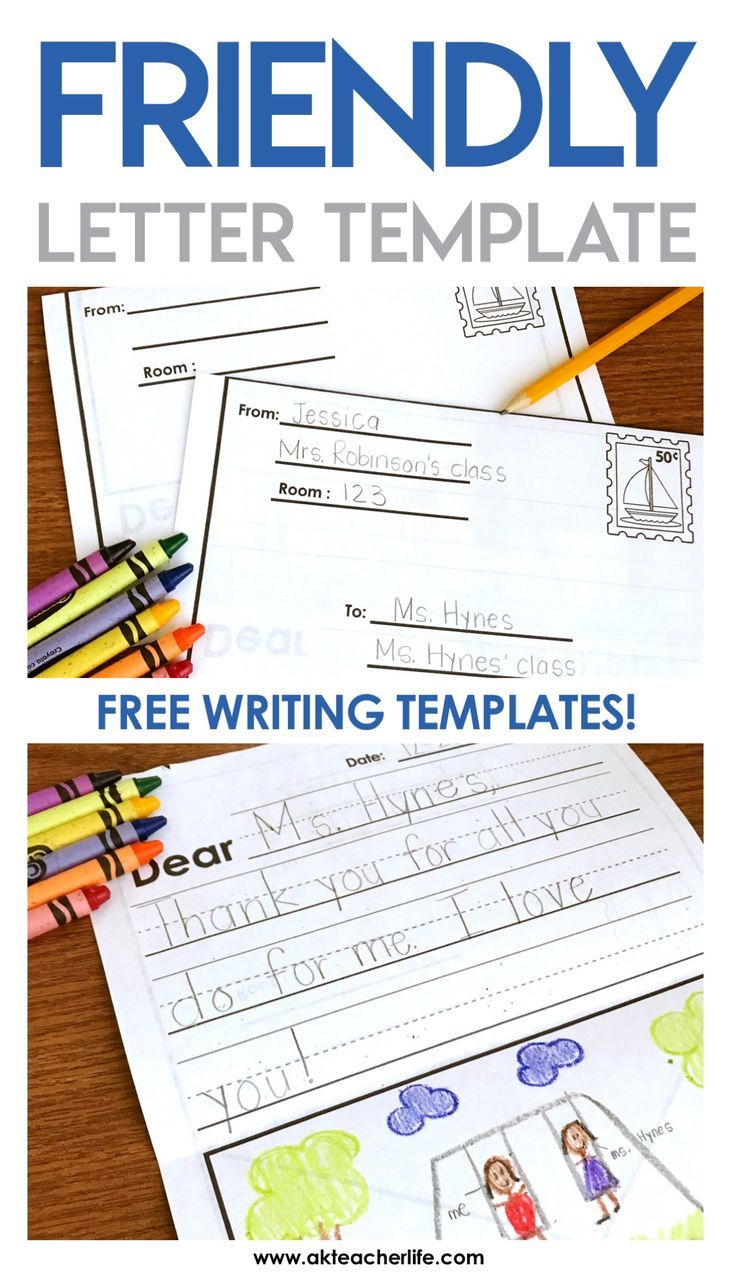 Friendly Letter Writing Paper | Best Of Kindergarten | Pinterest - Free Printable Handwriting Paper For First Grade