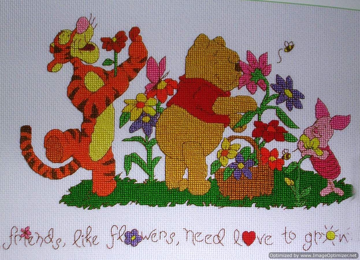Friends And Flowers.   Friends Like Flowers - Janlynn Pattern - Free Printable Cross Stitch Patterns Flowers