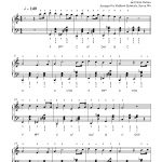 Frosty The Snow Mansteve Nelson Piano Sheet Music | Advanced Level   Free Printable Frosty The Snowman Sheet Music