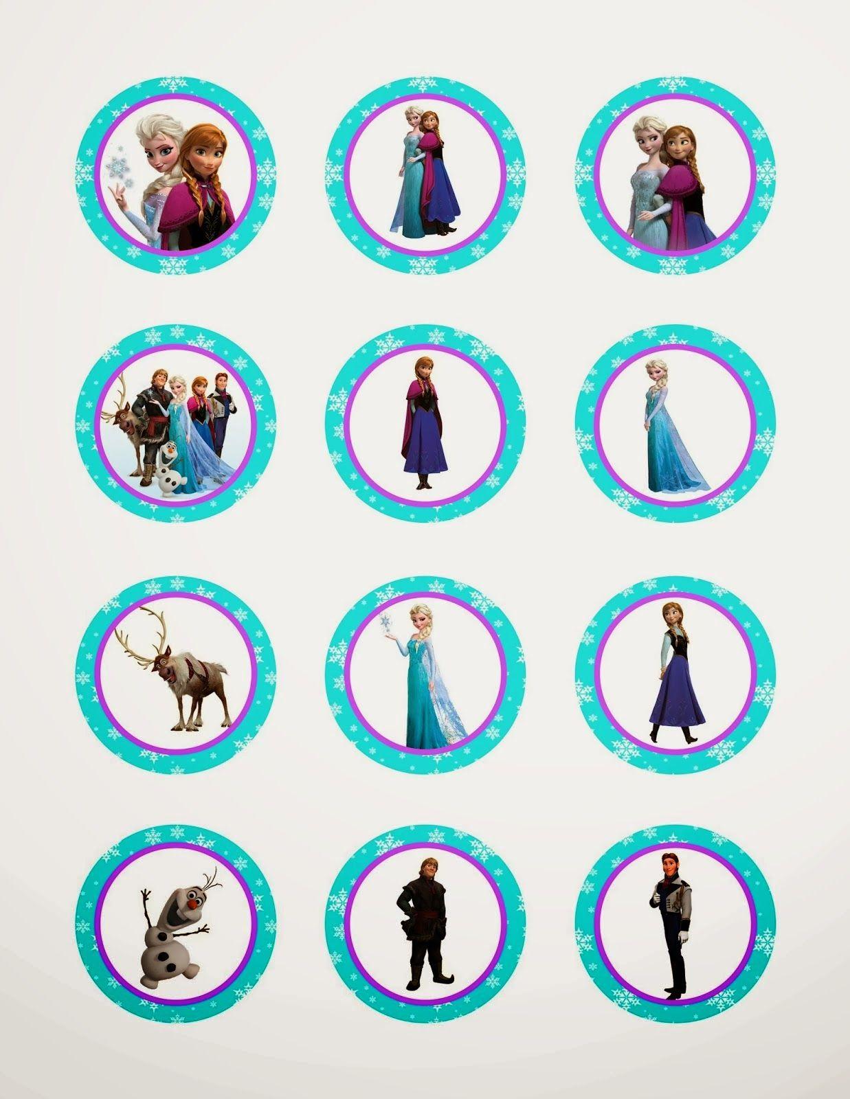 Frozen Cupcake Ideas Frozen: Free Printable Toppers | Birthday - Frozen Cupcake Toppers Free Printable