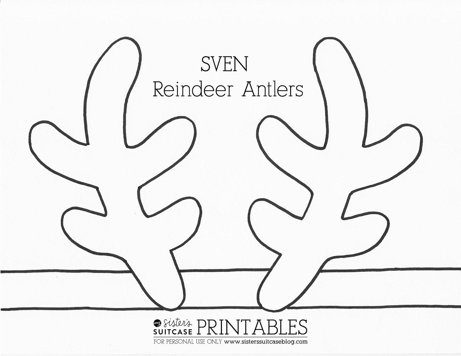 Frozen Elsa Crown Template & Sven Antler Template | Ava | Reindeer - Reindeer Antlers Template Free Printable