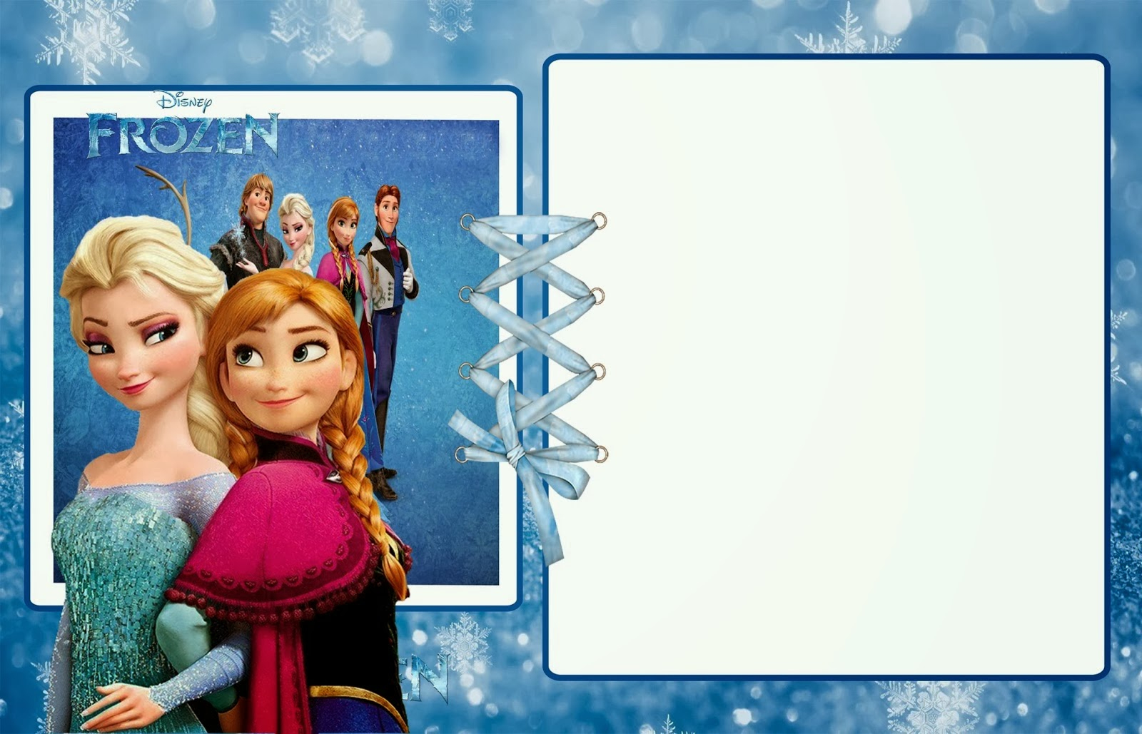 photo regarding Free Printable Frozen Invites named Frozen Get together: Cost-free Printable Invites. Oh My Fiesta! In just