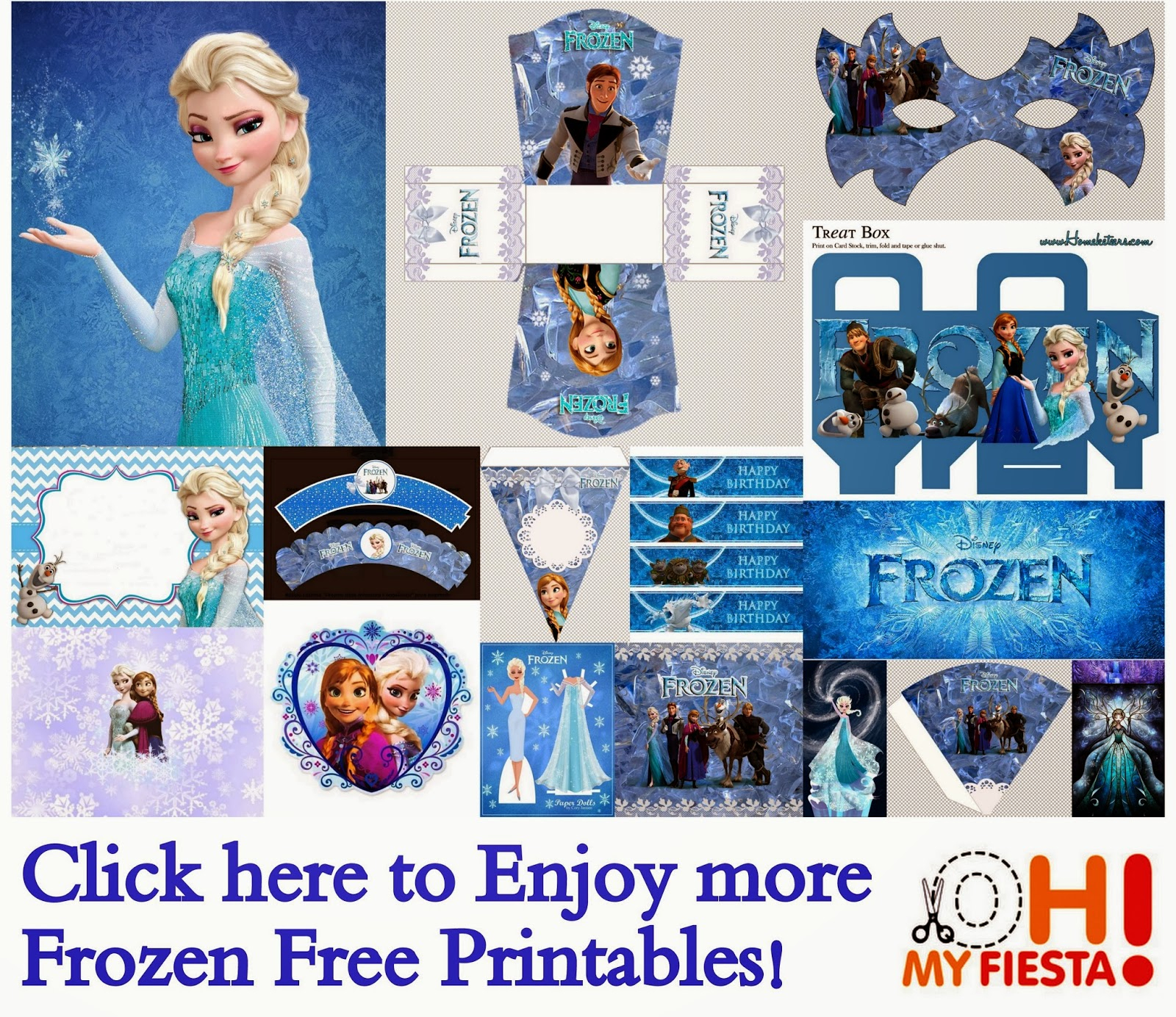 Frozen Party: Free Printables. | Oh My Fiesta! In English - Frozen Happy Birthday Banner Free Printable