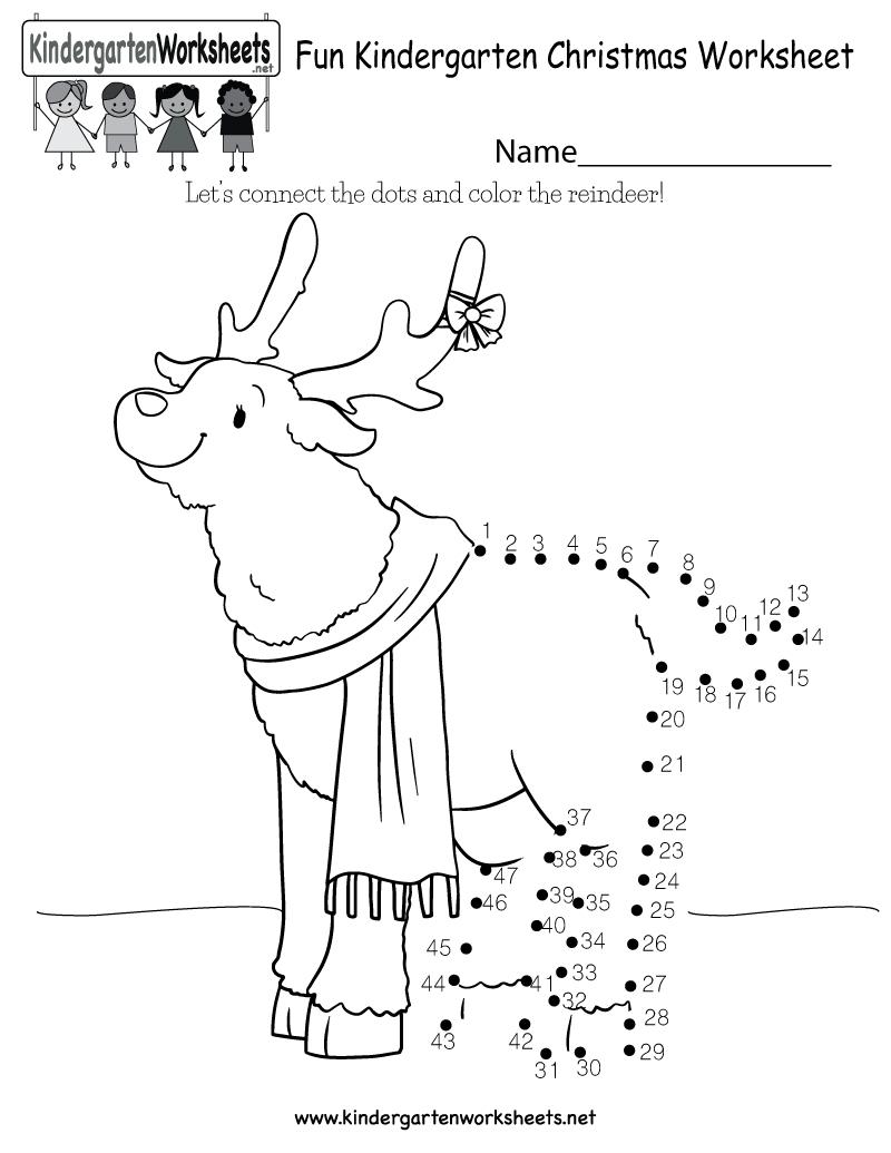 Fun Christmas Worksheet - Free Kindergarten Holiday Worksheet For Kids - Free Printable Christmas Worksheets For Third Grade