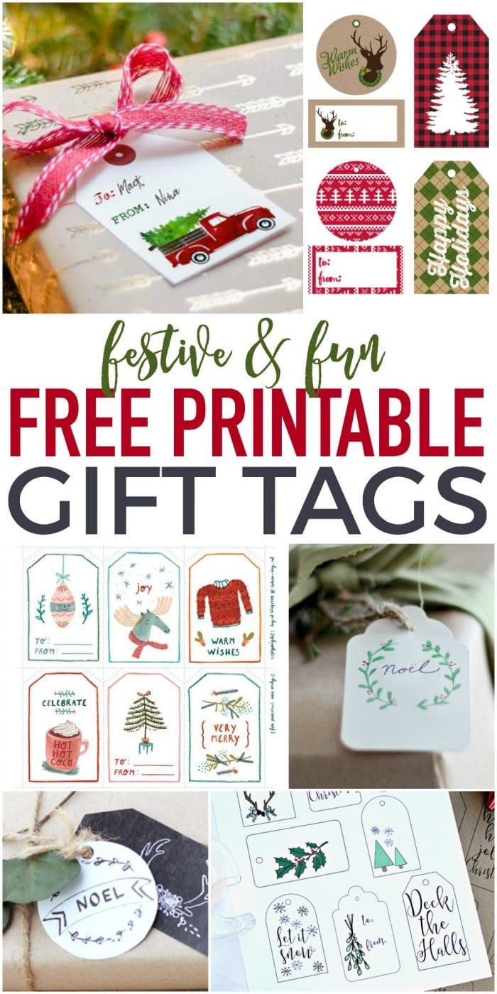 Fun Free Printable Gift Tags | The Turquoise Home - Printable Gift Tags Customized Free