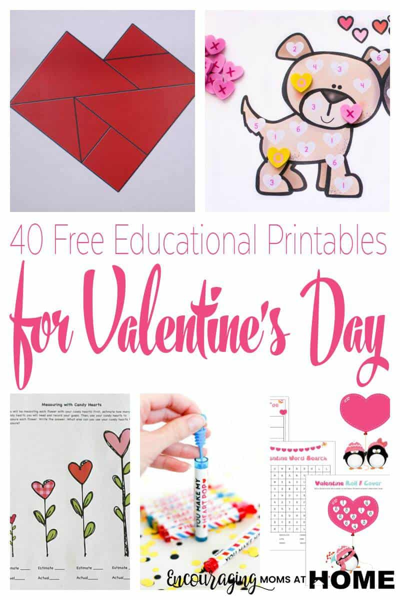 Fun Valentine's Day Learning Activities With Free Printables - Free Printable Valentine Games For Adults