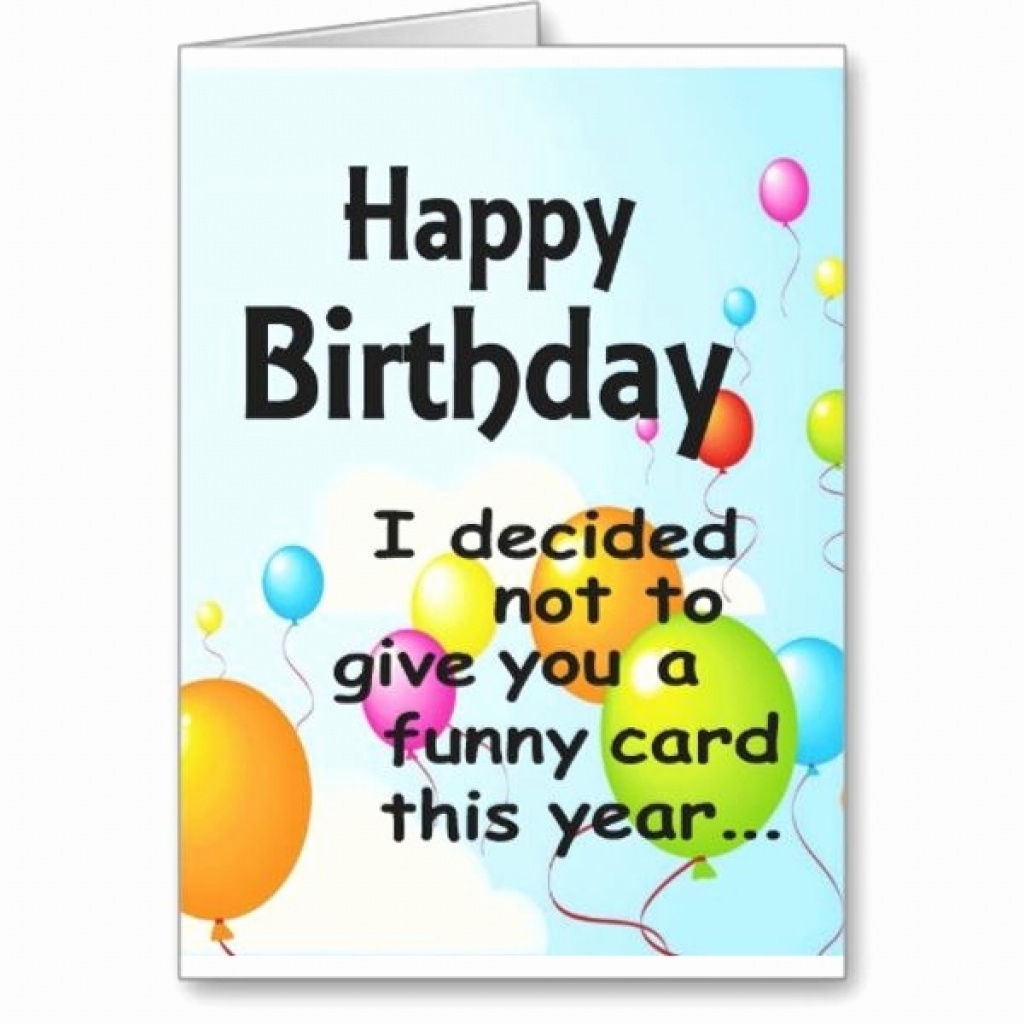 Funny Birthday Card Printables - Saman.cinetonic.co Intended For - Free Online Funny Birthday Cards Printable