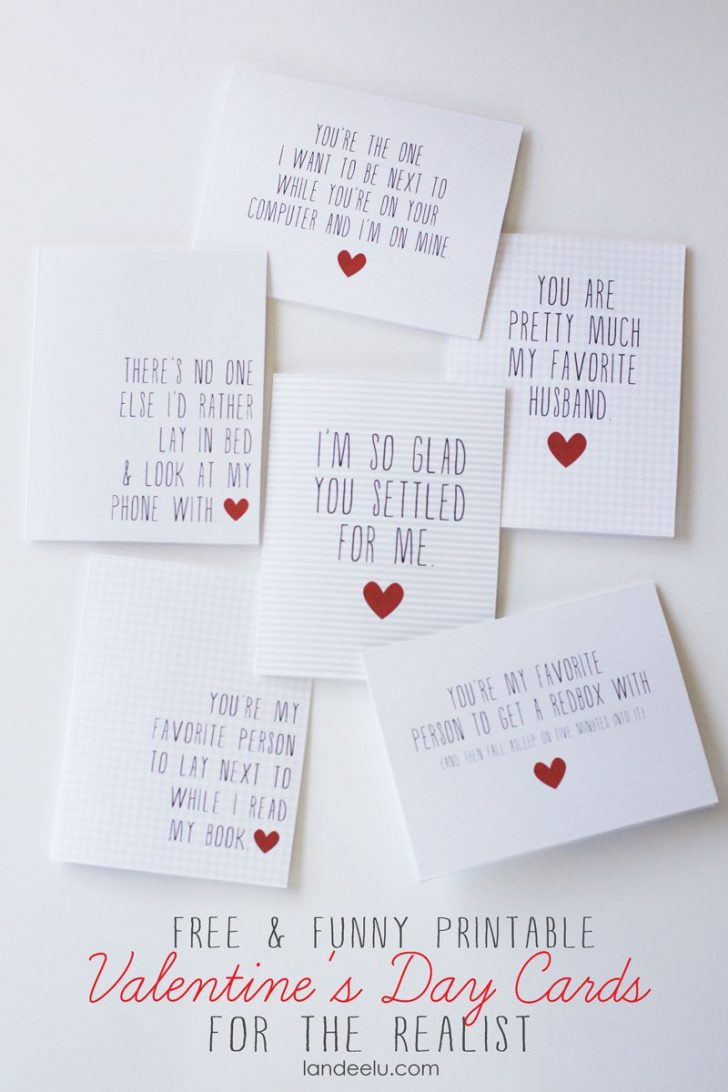 Free Valentine Printable Cards For Husband
