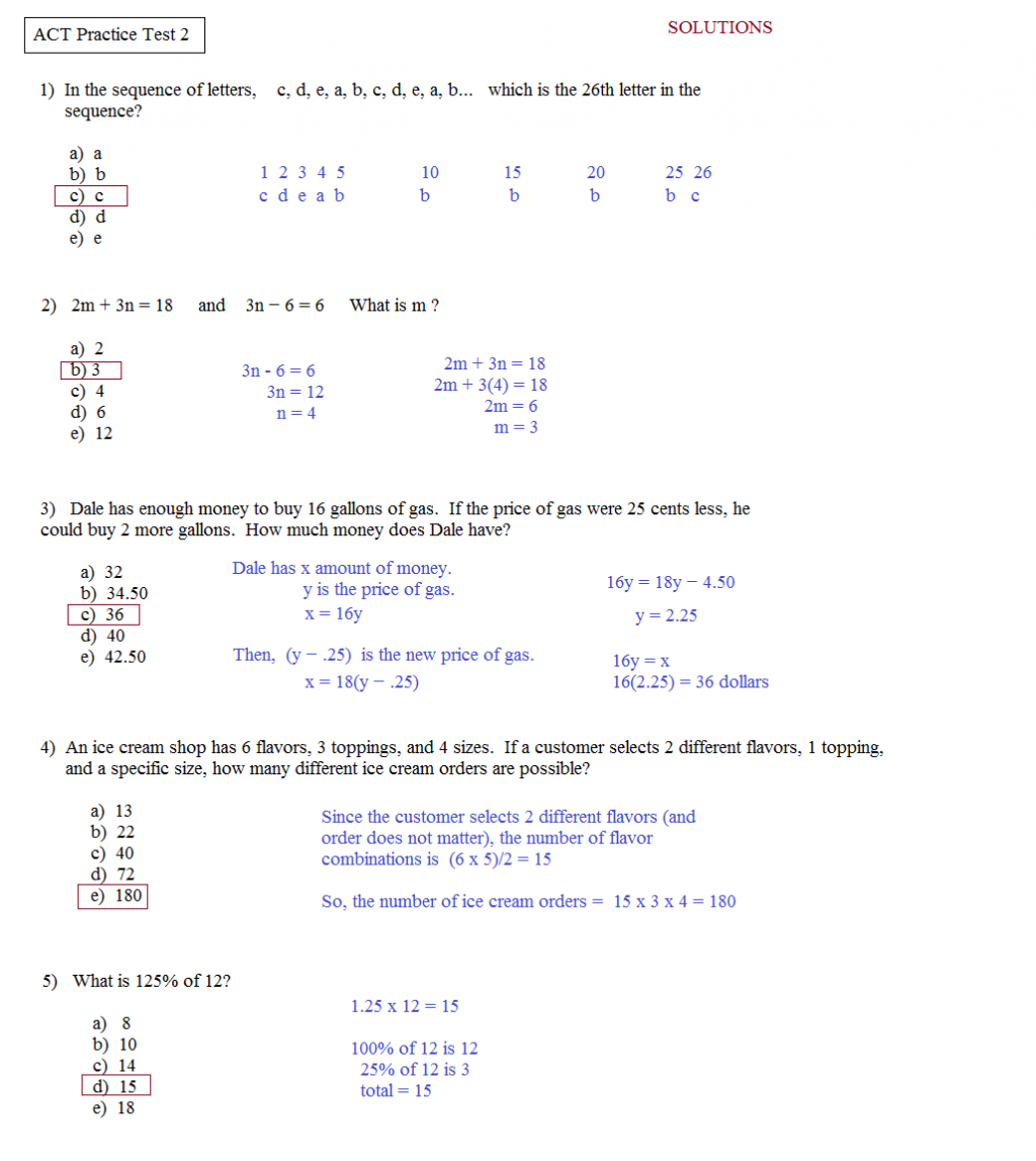 Ged Math Practice Test Free Printable And Answers Worksheets Spanish - Ged Math Practice Test Free Printable
