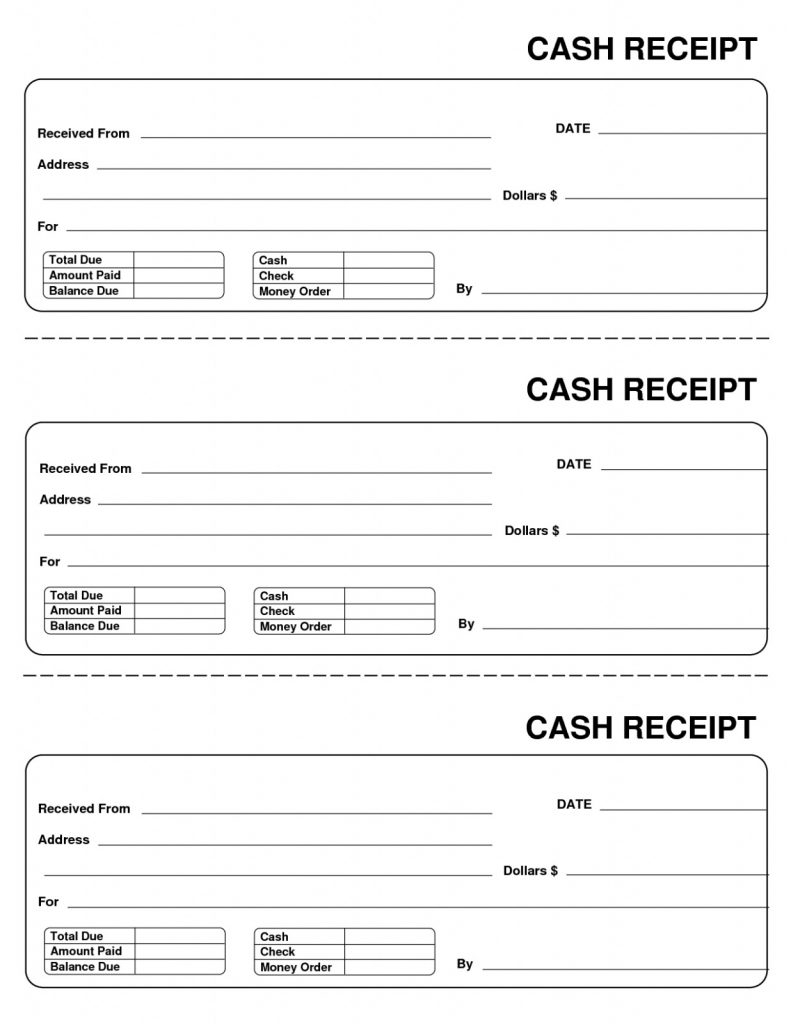 Generic Receipt Sample Forms Free Download 10 Best Of Blank Template - Free Printable Blank Receipt Form