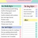 Geometric Free Printable Last Minute Wedding Checklist | Bespoke   Free Printable Wedding Party List