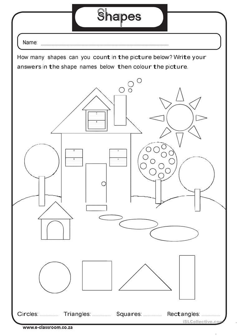 Geometry Shapes Worksheet - Free Esl Printable Worksheets Made - Free Printable Shapes Worksheets For Kindergarten