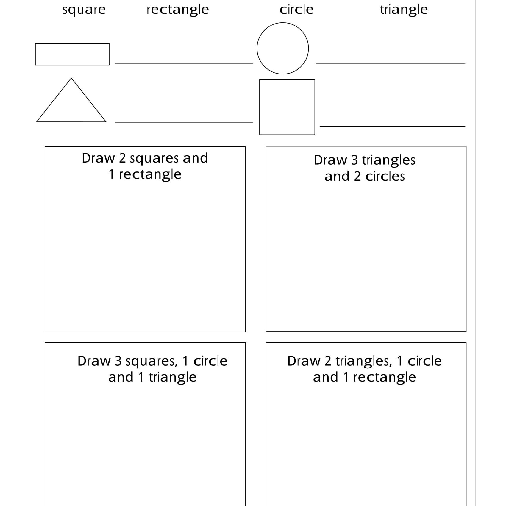 Geometry Worksheets For Students In 1St Grade - Free Printable Geometry Worksheets For 3Rd Grade