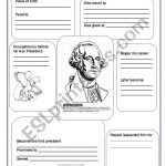 George Washington   Esl Worksheetsvetic   Free Printable George Washington Worksheets