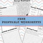 George Washington | Homeschool Unit Study American Presidents   Free Printable George Washington Worksheets