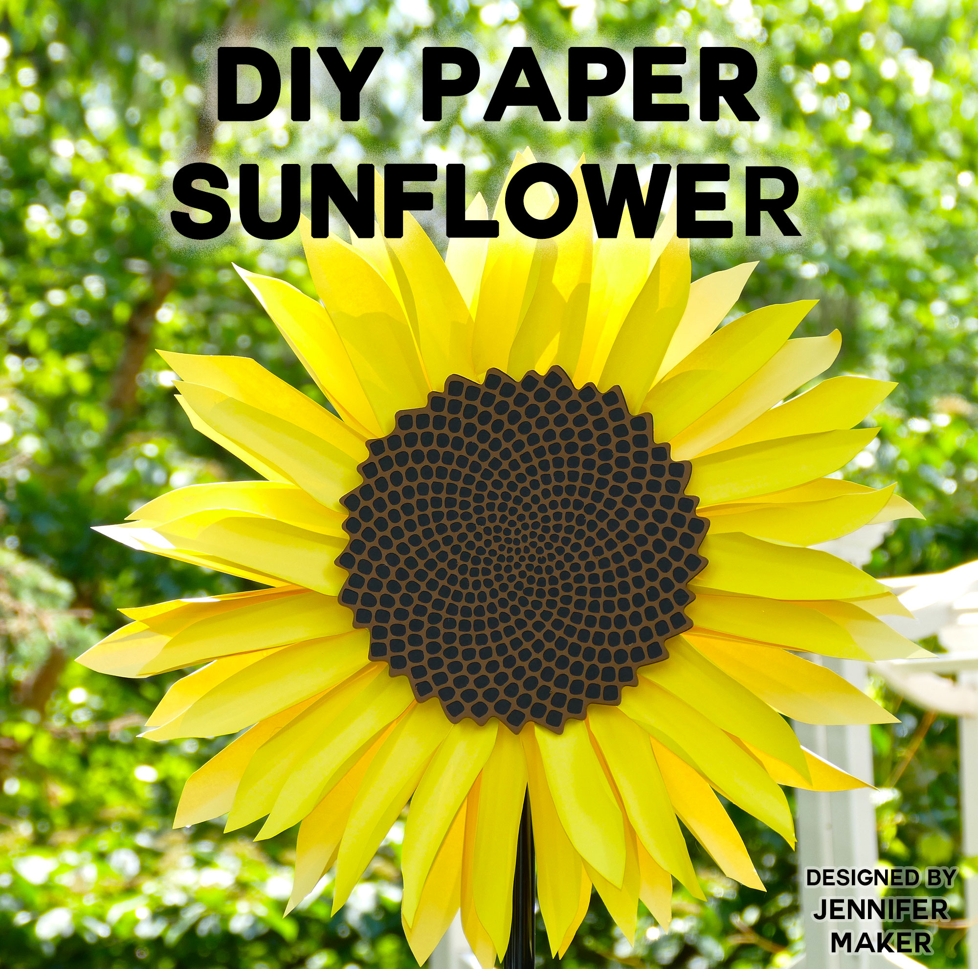 Giant Paper Sunflower Tutorial - This Will Mesmerize You! - Jennifer - Free Printable Sunflower Template