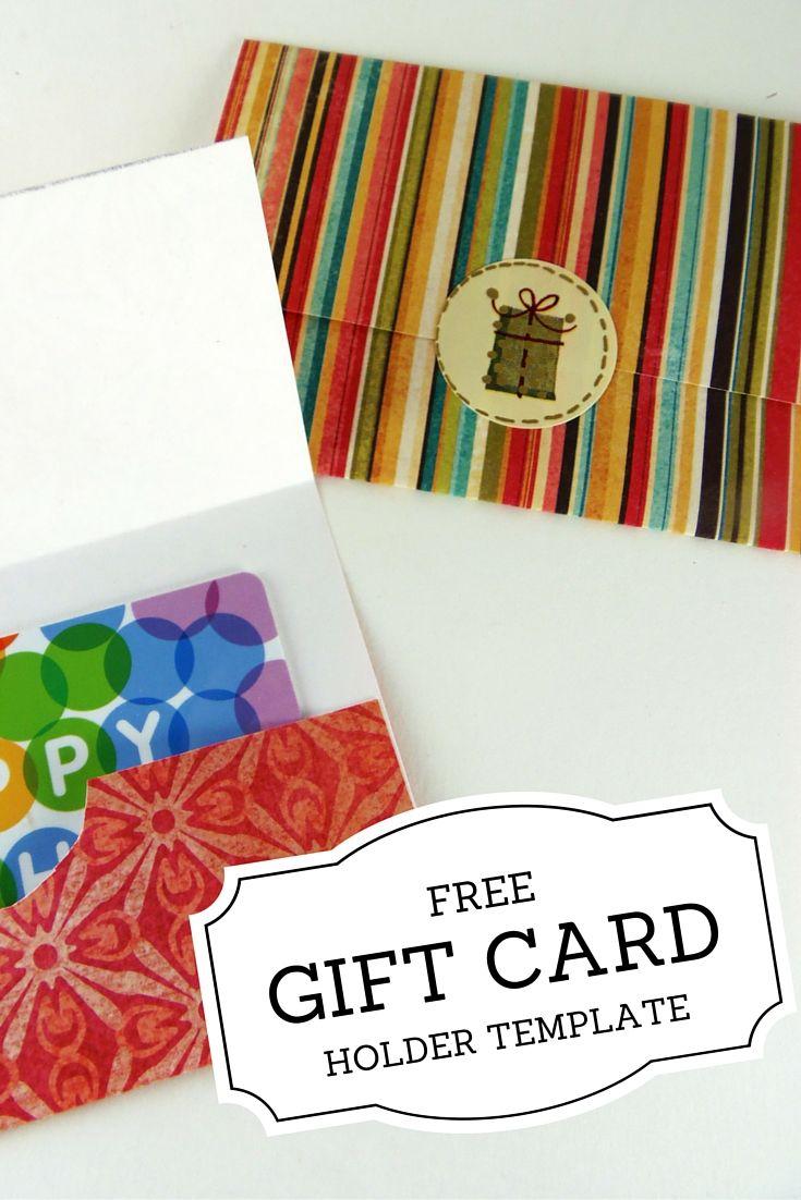 Gift Card Holder Templates | Printables | Pinterest | Printable Gift - Free Printable Christmas Money Holder Cards