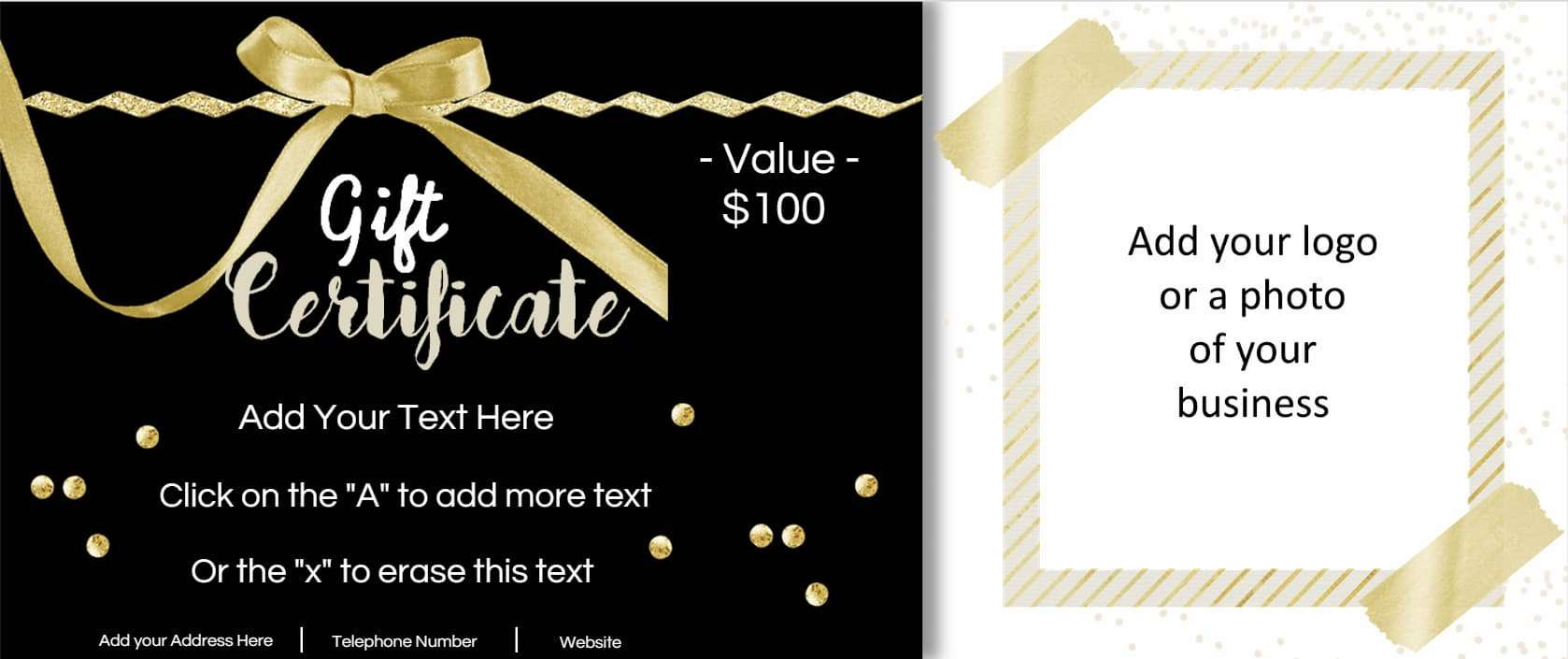 Gift Certificate Template With Logo - Free Printable Gift Certificates For Hair Salon