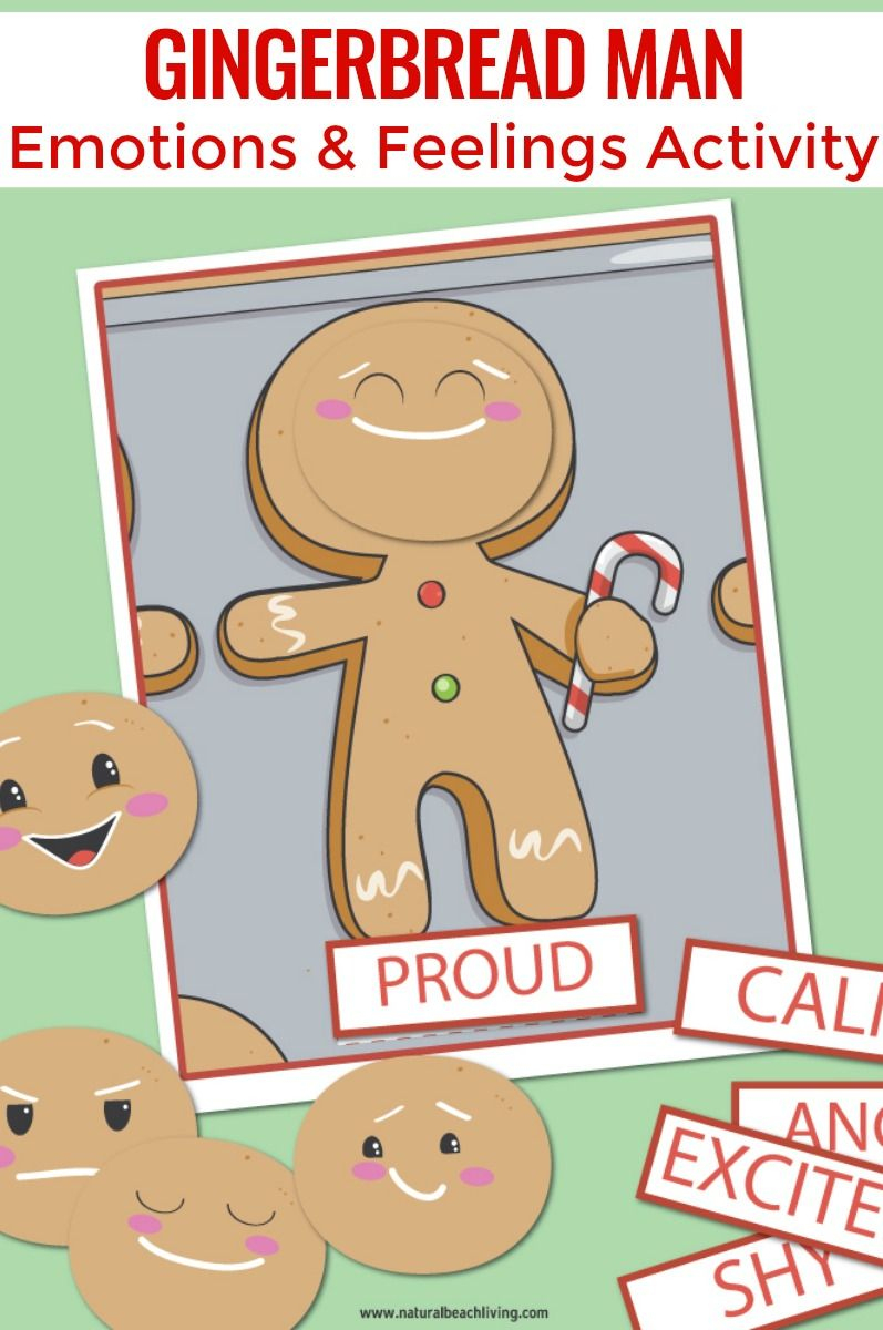 Gingerbread Man Preschool Emotions Printables | Preschool Ideas - Free Printable Gingerbread Man Activities