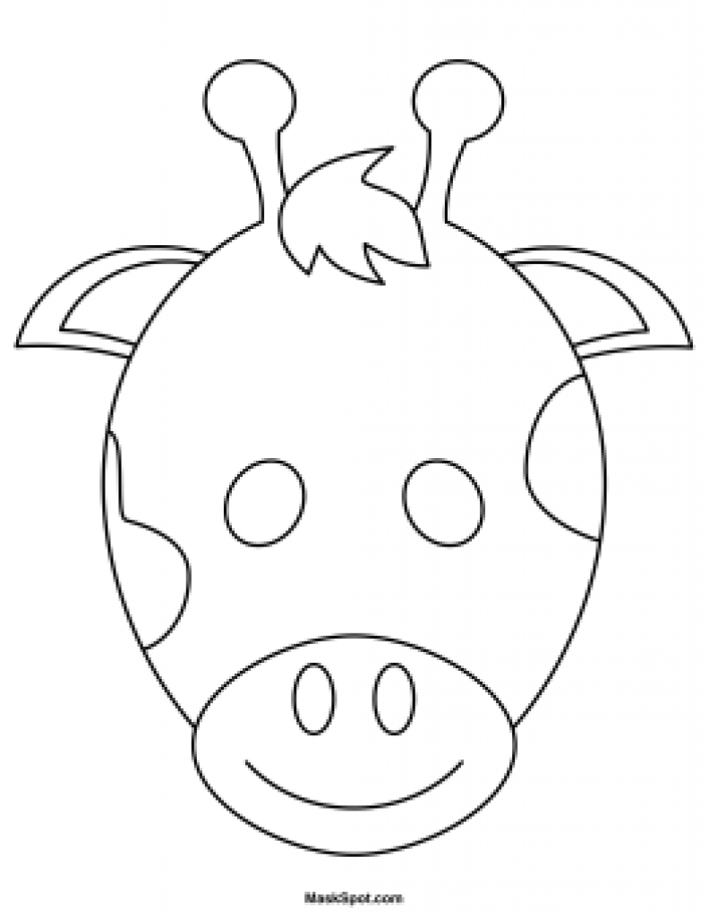 Giraffe Mask Template Printable Free | Free Printable - Giraffe Mask Template Printable Free