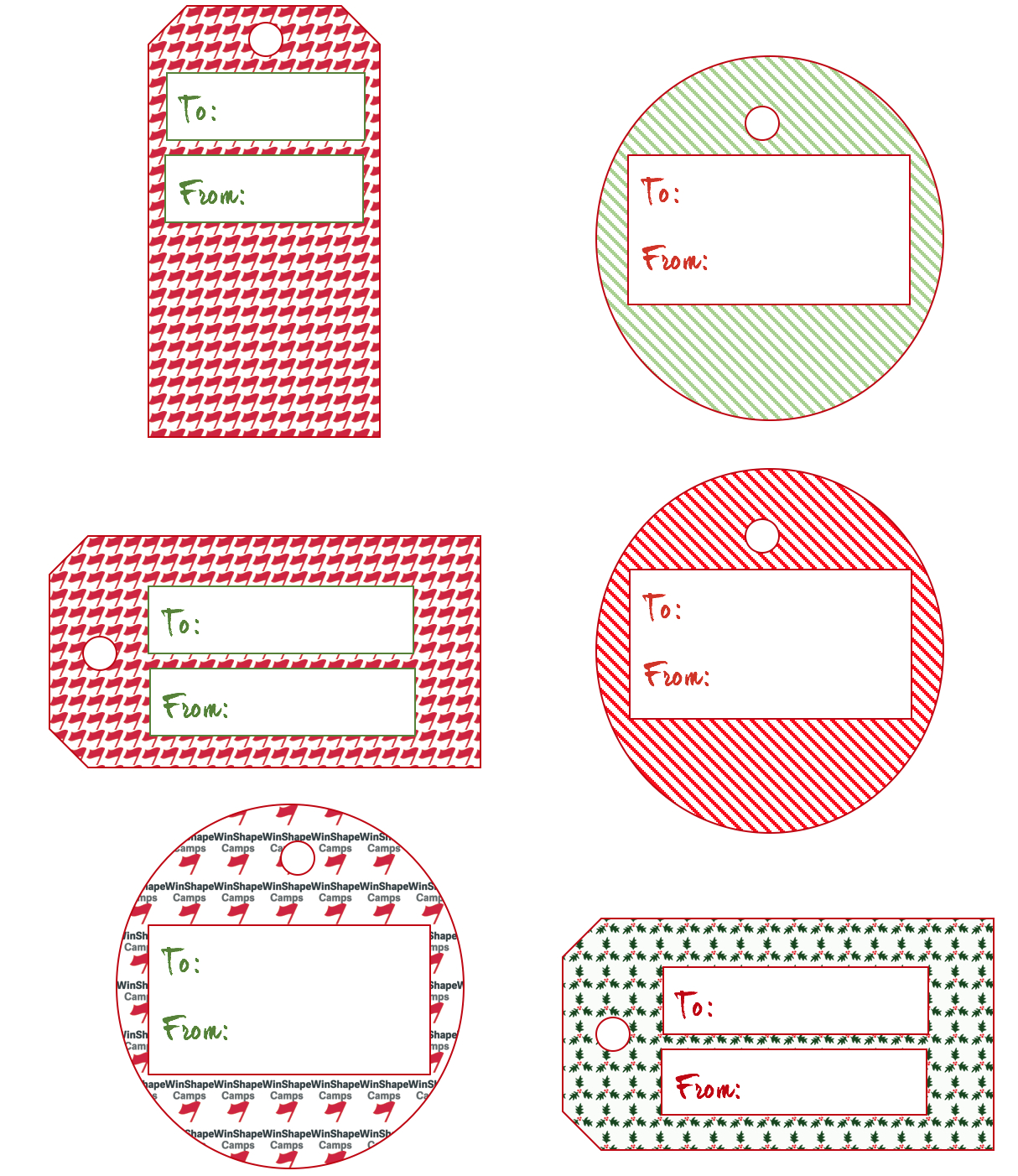 Giving The Gift Of Camp: Printable Gift Tags | Winshape Camps - Free Printable To From Gift Tags