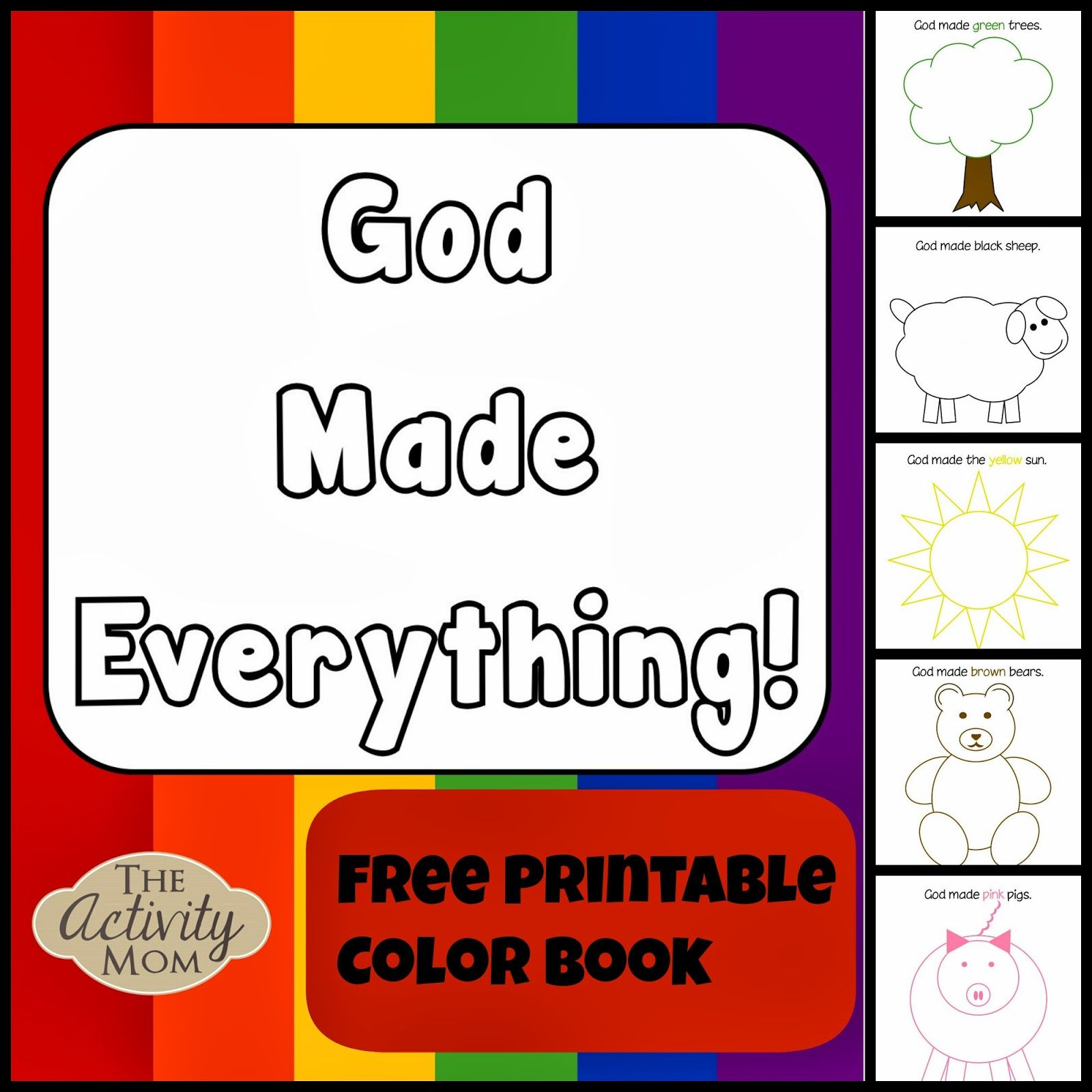 God Made Everything Colors Book (Printable | Kid Blogger Network - Bible Lessons For Toddlers Free Printable
