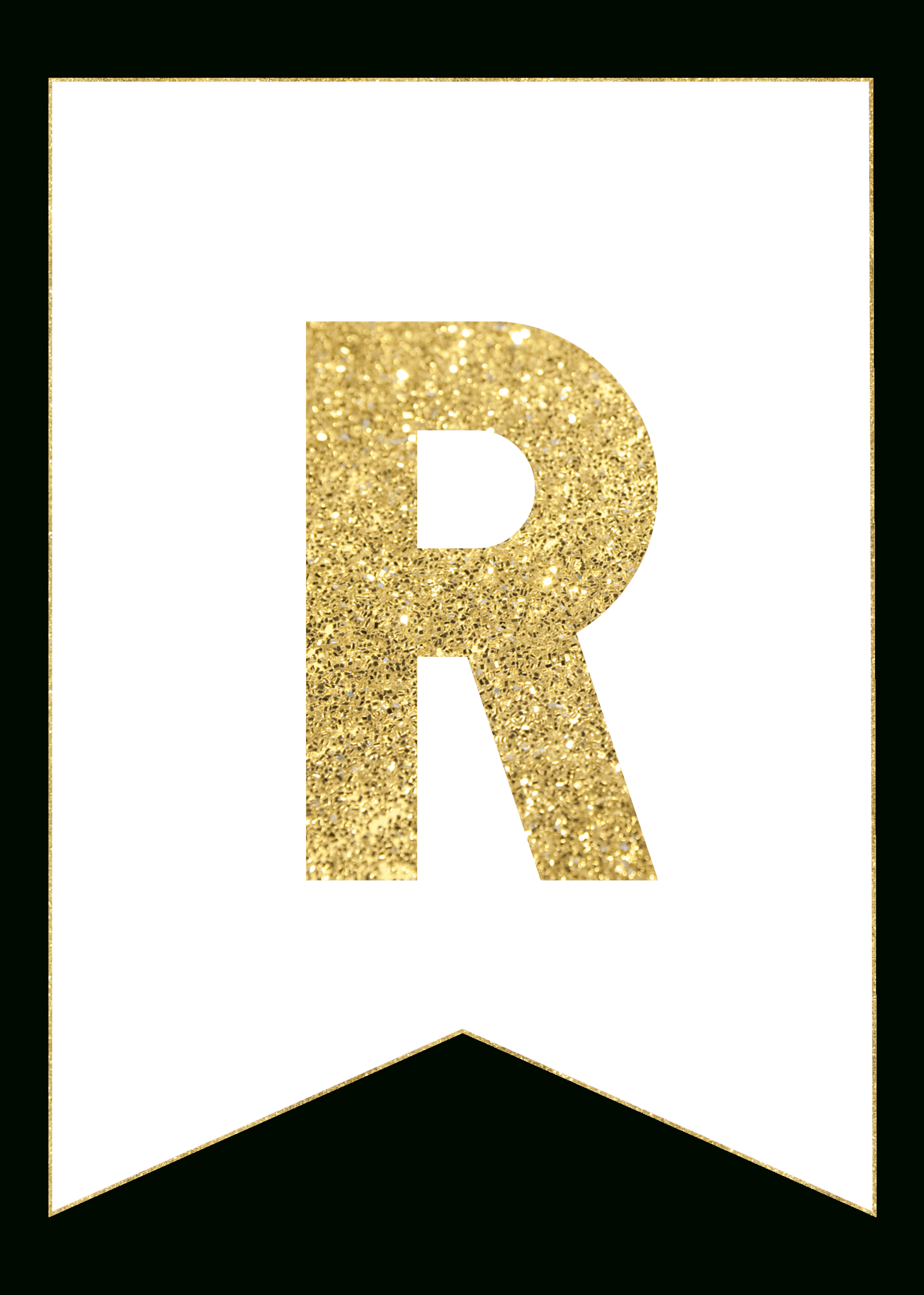 Gold Free Printable Banner Letters | Rolas Party | Free Printable - Free Happy Birthday Printable Letters